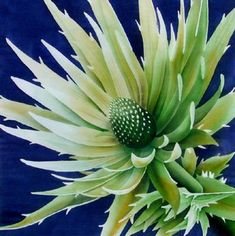 Silk Painting Sea Holly