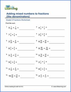Free adding & subtracting fractions worksheets in the preview ...