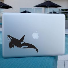 Orca Whale Decal  Vinyl Sticker  For Laptop Car por urbandecal, $6.95