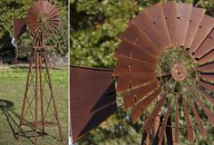 Rustic Garden Windmill - From Antiquefarmhouse.com - http://www.antiquefarmhouse.com/current-sale-events/rustic-garden-decor/rustic-garden-windmill.html