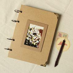 A4 Ring Binder Photo Album - 56 pages// Kraft Scrapbook Album // Wedding Album…
