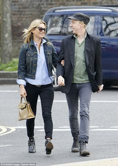 Get Kate Moss' cool style in Tabitha Simmons biker boots #DailyMail