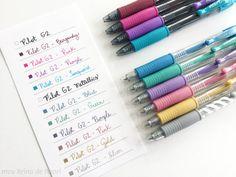 Precisar de caneta eu não precisava não...mas todas essas cores aí eu queria!! >.< Clique na imagem para ler a resenha das canetas Pilot G2 e Pilot G2 Metallics!