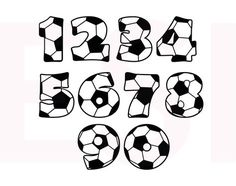 Soccer SVG, DXF, EPS, cutting files for use in Silhouette studio and Cricut Design Space. Soccer Birthday Parties, Soccer Party, Sports Party, Lego Soccer, Silhouette Cameo Freebies, Silhouette Projects, Silhouette Studio, Soccer Banquet, Vinyl Projects