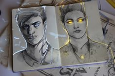 art by Andreeva Polina Shadowhunters Malec Magnus Bane Alec Lightwood