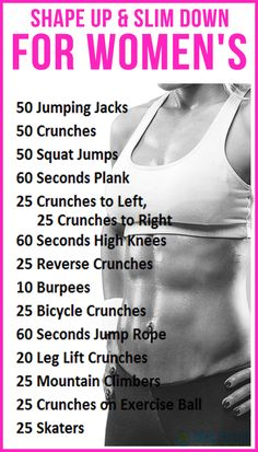 Shape up & slim down for women's : #fitness #health #slim #diet #weight #tips #workout #exercise #fit #motivation #arm