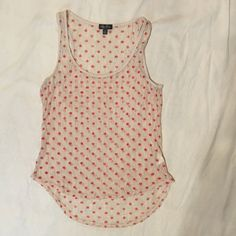 3 for $20 SALE Shear Red Polka Dot Tank Great condition! Always ships within 24 hours! Bundle to save! Lily Rose Tops Tank Tops