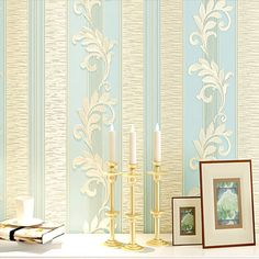 PAYSOTA 4D Embossed European Living Room Bedroom Background Wallpaper Non woven Fabric Thickening Vertical Stripe Wall Paper -in Wallpapers from Home Improvement on Aliexpress.com | Alibaba Group