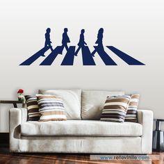 """""""Abbey Road the Beatles"""". Se entrega en una pieza de 190x56 cm #retovinilo #vinilosdecorativos #vinilo  #musica #thebeatles"""