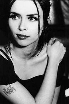 Curve's frontwoman, Toni Halliday ... such a big crush on her as a yoof! (And now still!)