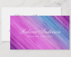 Shop Blue purple watercolor pretty script chic business card created by TheStationeryShop.