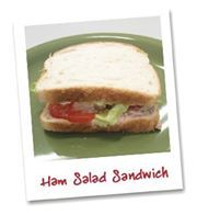 Day 6: If you like chicken and tuna salad sandwiches, check out this #recipe! You'll love this #HamSalad Sandwich on Klosterman's Pennington Old Fashion Enriched #Bread!