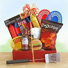 The Great Outdoors Gift Basket- Celebrate in the great outdoors this summer with the griller on your list! We loaded up with the perfect compliments to any campsite grill or road trip this summer. - See more at: http://bestgiftbasketswithstyle.com/best-summer-fun-beach-resort-gift-baskets-online-delivered.html#p=2_data=true