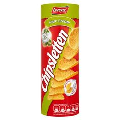 Lorenz Chipsletten zakysaná smetana a cibule 100g Snack Recipes, Snacks, Sour Cream, Chips, Food, Miniature, Snack Mix Recipes, Appetizer Recipes, Appetizers