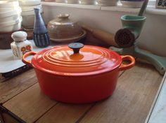 Vintage Le Creuset large oval casserole/ Dutch by Onmykitchentable, £50.00
