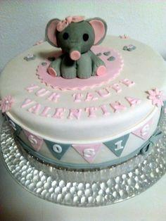 Tauftorte mit Elefantenbaby Cake, Desserts, Food, Pies, Tailgate Desserts, Deserts, Kuchen, Essen, Postres