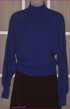 Vintage 1980s Beaded Wool Sweater by Ann Tjian by nowandthenstyle, $65.00