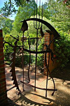This is a gate to a small garden within the ABG