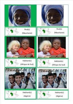 cartes nomenclature habitants Afrique Europe