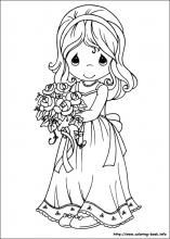 Precious Moments coloring pages. I loved these coloring books when I was a kid.