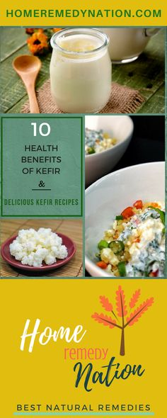 Kefir Benefits that Boost Immunity & Heal the gut with Healthy Kefir Recipes | Home Remedy Nation  #HealthyBenefits #HealthyRecipes #Kefir #HomeRemedy #DeliciousRecipes #Immunity