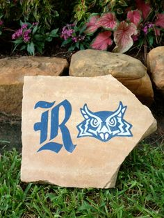 Items similar to Rice University Hand Painted Decorative Yard Garden Rock on Etsy Owl Rocks, Rice University, Rock Decor, Beautiful Flowers, Etsy Seller, Give It To Me, Christmas Gifts, Reusable Tote Bags, Monogram