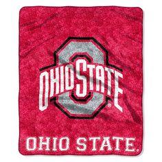 "Ohio State College """"Jersey"""" 50x60 Sherpa Throw"