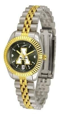 Appalachian State Ladies Gold Dress Watch by SunTime. $139.95. Links Make Watch Adjustable. Officially Licensed Appalachian State Mountaineers Ladies Gold Dress Watch. Stainless Steel Case With 23kt Gold-Plated Bezel. Women. AnoChrome Dial Enhances Team Logo And Overall Look. Appalachian State Mountaineers ladies watch. College women's executive dress watch with stainless steel and gold plating. Features a 23kt gold-plated bezel, stainless steel case and date fun...