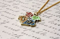Hogwarts Crest - Harry Potter Inspired Necklace - Hogwarts School of Witchcraft and Wizardry