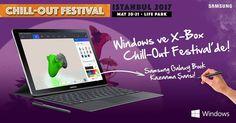 Chill Out Festival bugün başladı! 20-21 Mayıs tarihleri arasında Windows'un 3D Paint ve Inking özelliklerini kullanarak en iyi Xbox konsolunu tasarlayarak 1. olan yarışmacıya, Samsung Galaxy Book 12'' Wi-Fi hediyemiz.