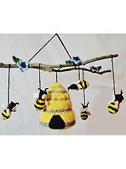 New Baby & Kids Crochet Patterns - Bumble Bee Mobile