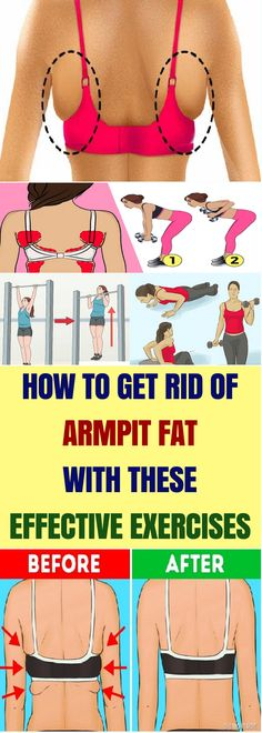 The excess fat on the area below the shoulder and in the armpit area is because of wearing improper size of the bra. These areas most of the time go noticed...