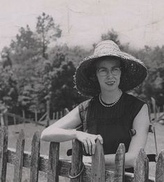 Flannery O'Connor -- When you have a peacock farm in rural Georgia, you'd better be able to rock your pearls and a straw hat.