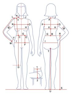 Total body measurement for sewing