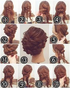 There are a few short steps to the perfect braid bun, but they are all easy and a snap. There are a few short steps to the perfect braid bun, but they are all easy and a snap. Fancy Hairstyles, Box Braids Hairstyles, Wedding Hairstyles, Braided Chignon, Braided Buns, Low Updo, Hair Arrange, Pinterest Hair, Hair Dos