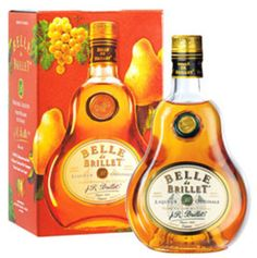 "Belle de Brillet Pear Cognac: "" Liquid Sex"". 22 lbs of Gascony pears is distilled into each bottle. $49.00."