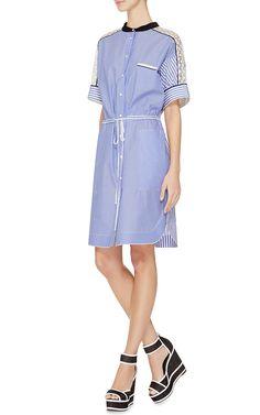 Striped Contrast Shirt Dress by Aquilano.Rimondi - Moda Operandi