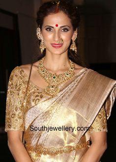 Shilpa Reddy in Polki Diamond Necklace Set photo