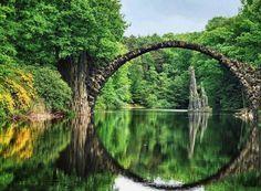 Devil's Bridge in Landscape Park, Kromlau, Germany