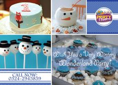 This Birthday, Throw a Snow Ball and a Party! Have a Very Wintery, Blustery by Snowball, Children, Cake, Birthday, Party, Desserts, Fun, Young Children, Tailgate Desserts