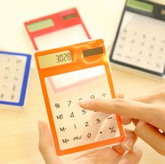 N38 1X Creative Stationery Candy Slim Solar Energy Touch Scientific Calculator Student School Office Exam Supplies Birthday Gift