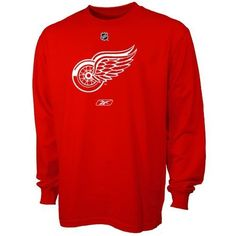 6f7c7db1f Detroit Red Wings Primary Logo Long Sleeve T-Shirt (Medium) by Reebok.