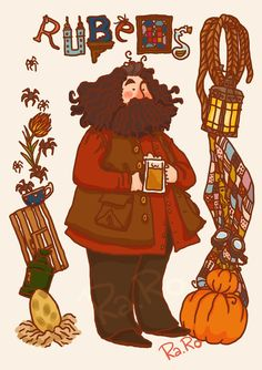 Hagrid by RaRo81 on DeviantArt #harrypotter #fanart