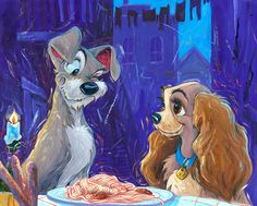"William Silvers - ""With a Wink and Smile"" - the defining spaghetti scene from Lady and the Tramp!"