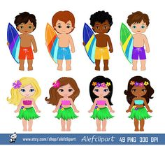 Luau Clipart Hawaii Clipart Hula Girl ClipArt by Alefclipart Thema Hawaii, Making Ugly Christmas Sweaters, Simple Collage, Surf, Aloha Party, Girl Clipart, Hula Girl, Classroom Themes, Collage Sheet
