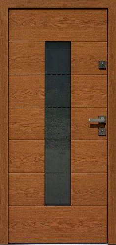 Dębowe wejściowe drzwi zewnętrzne 466,2+ds11 ciemny dąb
