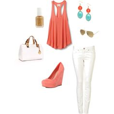 super cute,,,,love the coral and turquoise together!