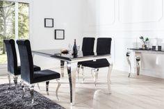 Piękny, elegancki stół Modern Baroque będzie świetnym i funkcjonalnym dodatkiem do Twojej jadalni, przy którym każdy posiłek nabierze nowego brzmienia. Mebel odnajdzie się w mieszkaniach w stylu glamour i nie tylko.