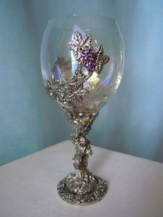 Pewter Grape Goblet by Fellowship Foundry on Etsy, $85.00