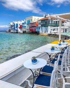 The beautiful Little Venice of Mykonos island (Μύκονος)